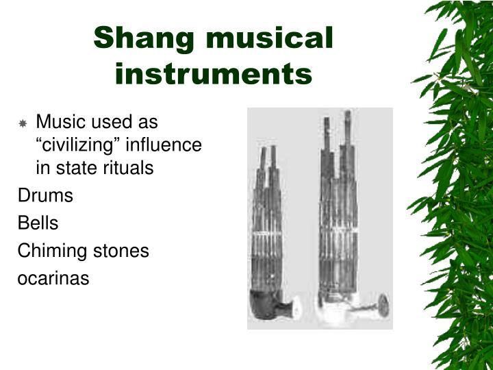 Shang musical instruments