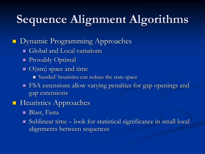 Sequence Alignment Algorithms