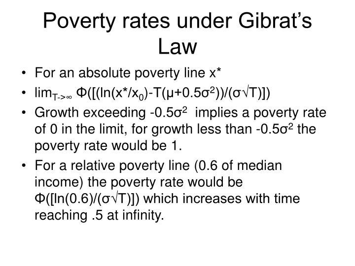 Poverty rates under Gibrat's Law