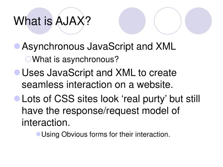 What is AJAX?