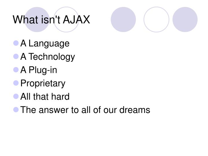 What isn't AJAX