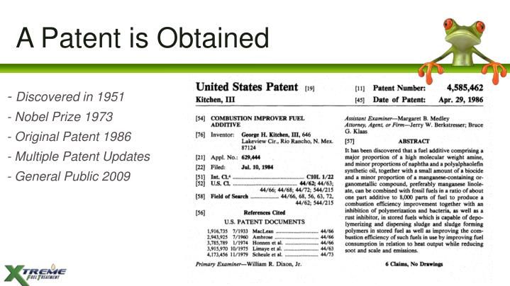A Patent is Obtained