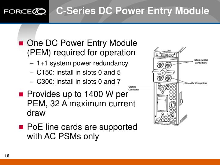 C-Series DC Power Entry Module