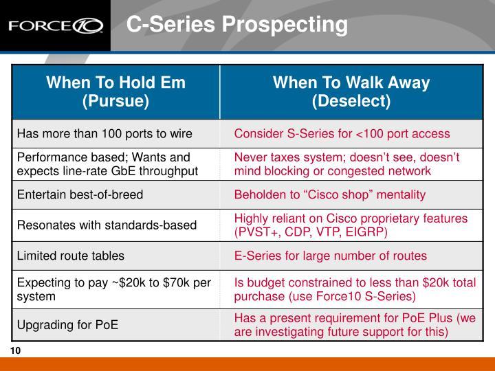 C-Series Prospecting