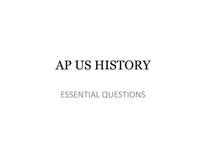 ap us history chapter 31 essential