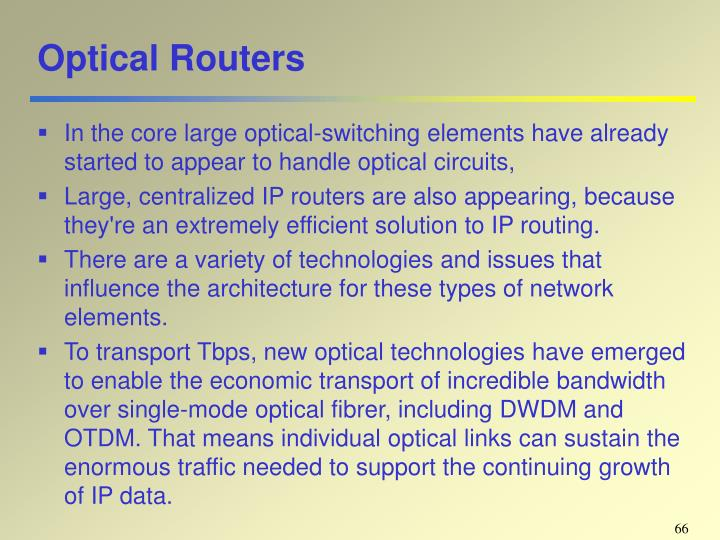 Optical Routers