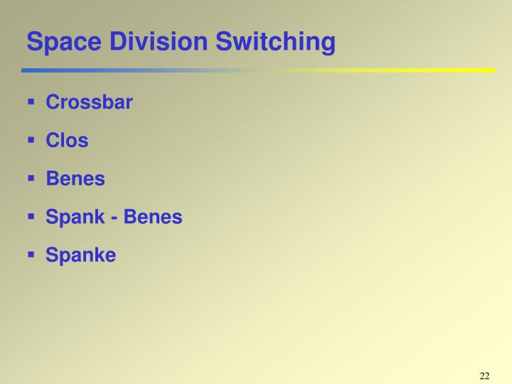 Space Division Switching