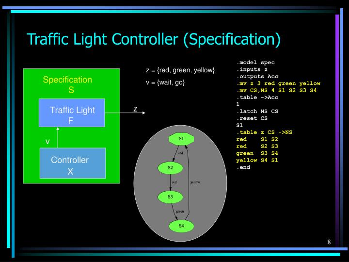 Traffic Light Controller (Specification)