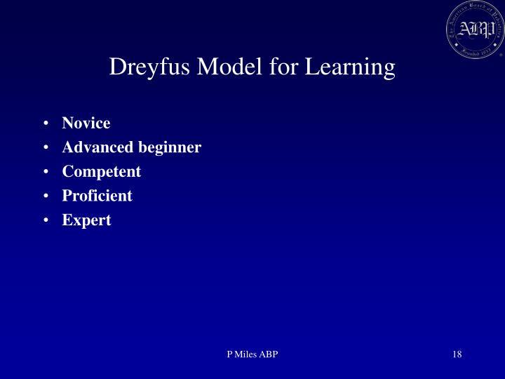 Dreyfus Model for Learning
