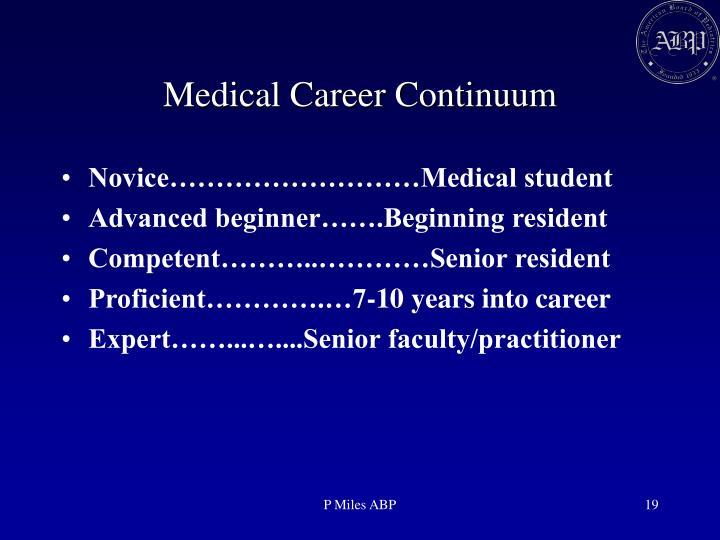 Medical Career Continuum