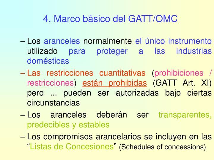 4. Marco básico del GATT/OMC