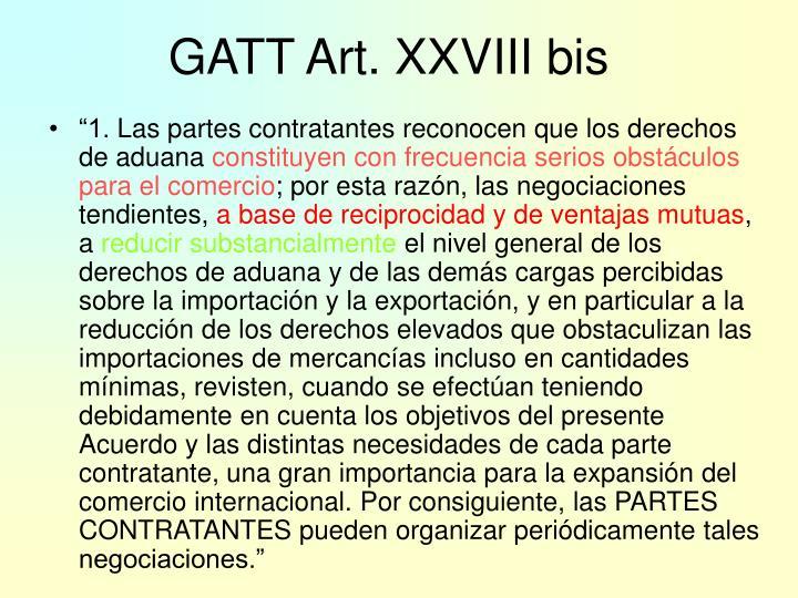 GATT Art. XXVIII bis