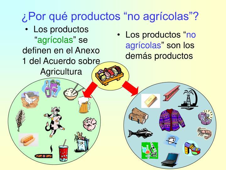 """Los productos """""""