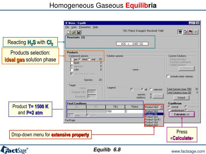 Homogeneous Gaseous