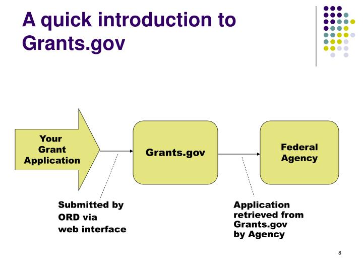A quick introduction to Grants.gov