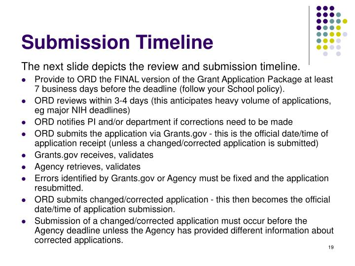 Submission Timeline