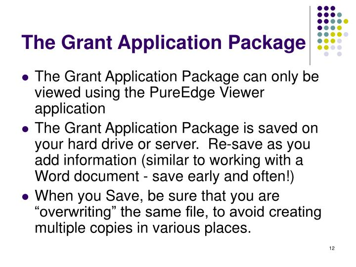 The Grant Application Package