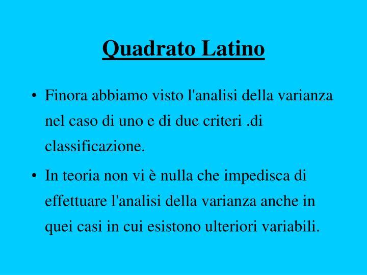Quadrato Latino