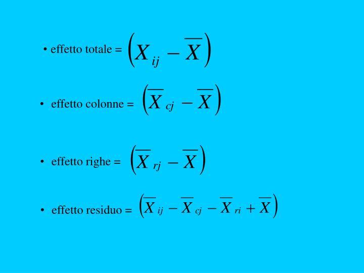 effetto totale =