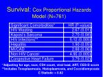 survival cox proportional hazards model n 761