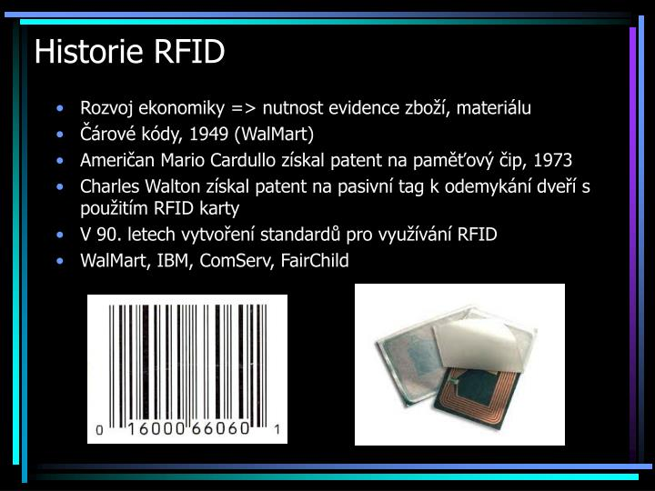 Historie RFID