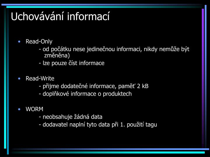 Uchovávání informací