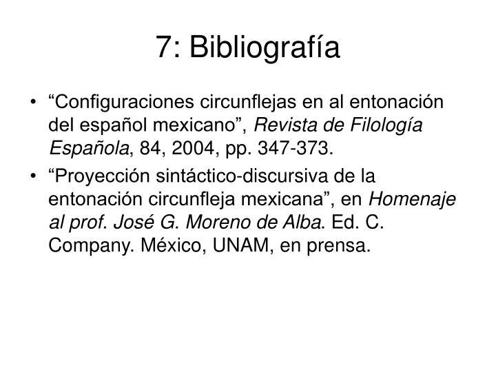 7: Bibliografía
