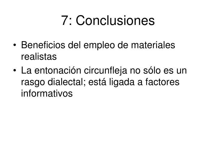 7: Conclusiones