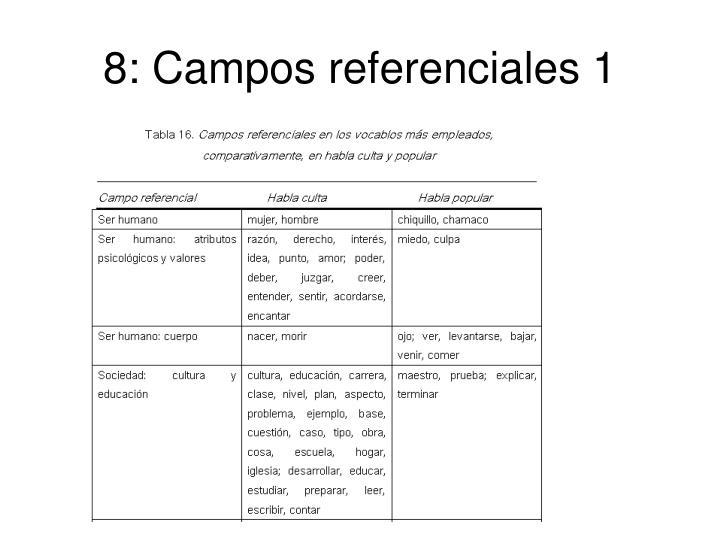 8: Campos referenciales 1