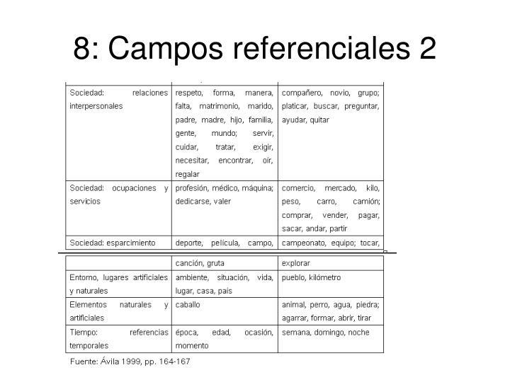 8: Campos referenciales 2
