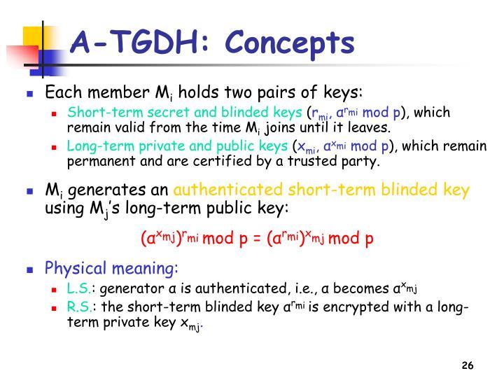 A-TGDH: Concepts