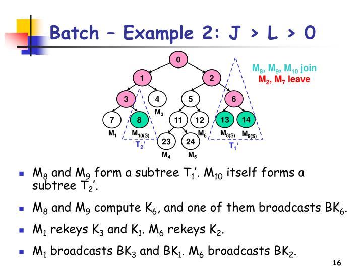 Batch – Example 2: J > L > 0