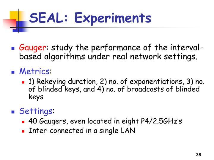 SEAL: Experiments