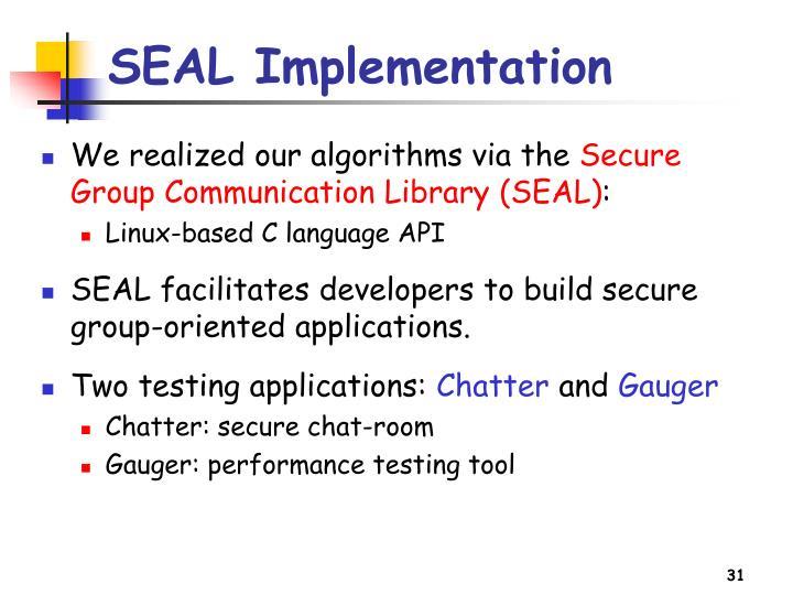 SEAL Implementation