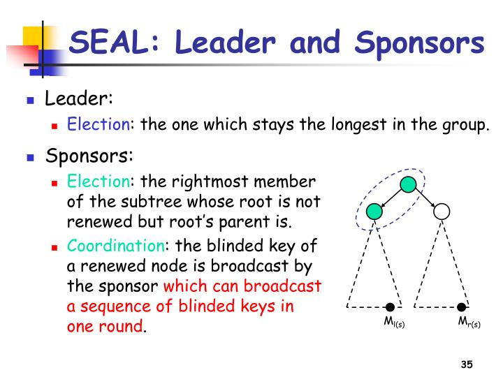 SEAL: Leader and Sponsors