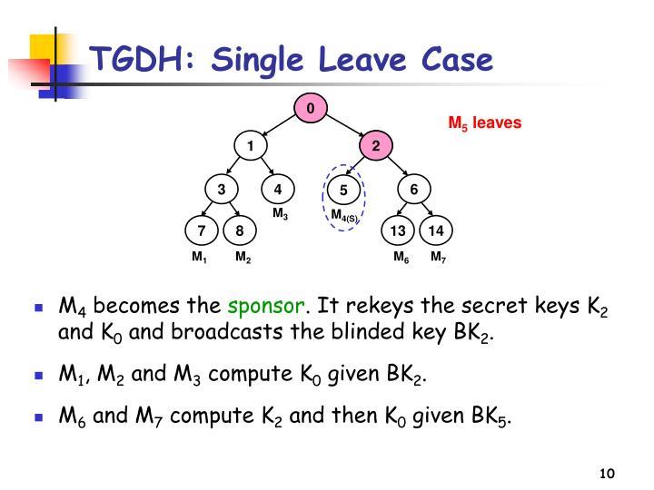 TGDH: Single Leave Case