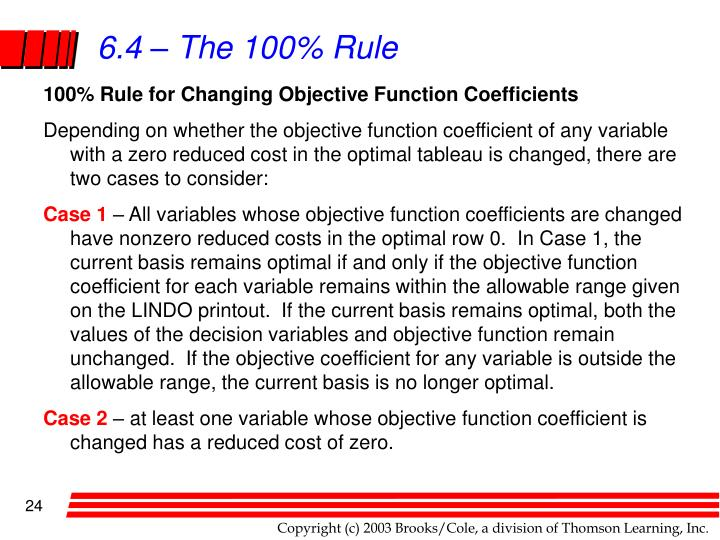 6.4 – The 100% Rule