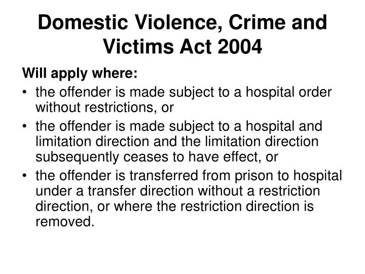 Domestic Violence, Crime and Victims Act 2004