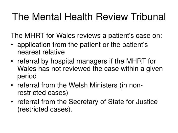 The Mental Health Review Tribunal