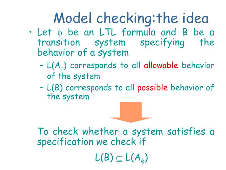 Model checking:the idea