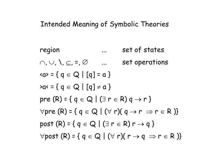 Intended Meaning of Symbolic Theories