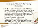 intersectoral children s act steering committee