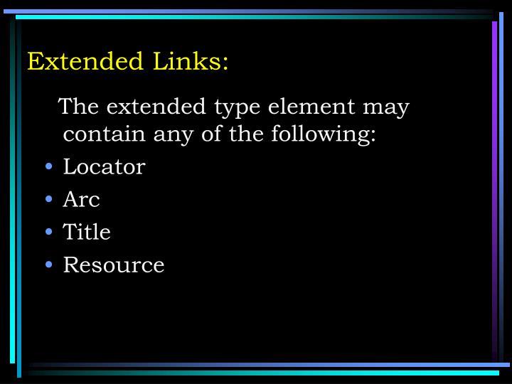Extended Links: