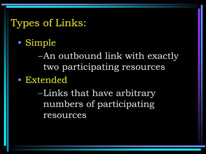 Types of Links: