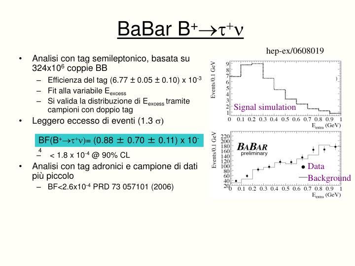 Analisi con tag semileptonico, basata su  324x10