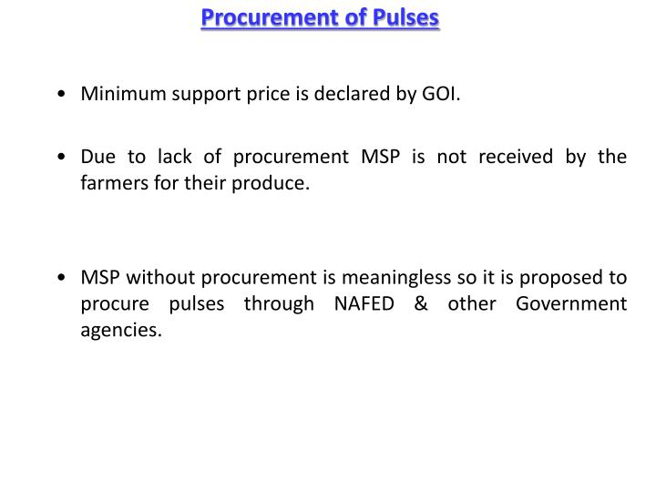 Procurement of Pulses