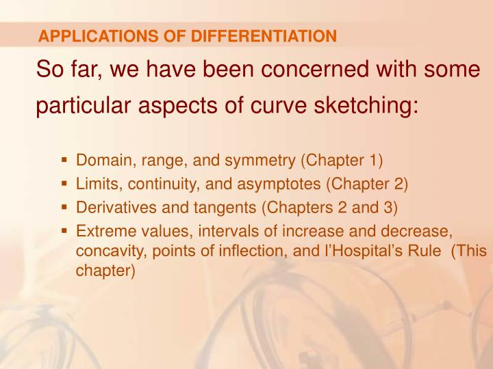 Applications of differentiation