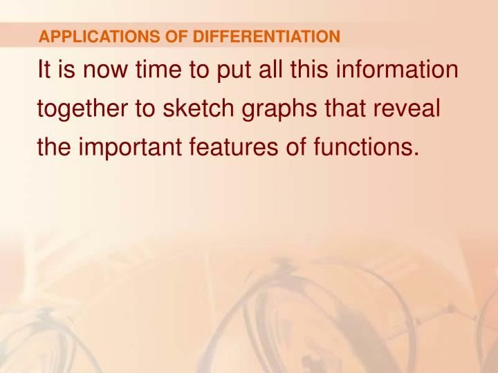 Applications of differentiation1