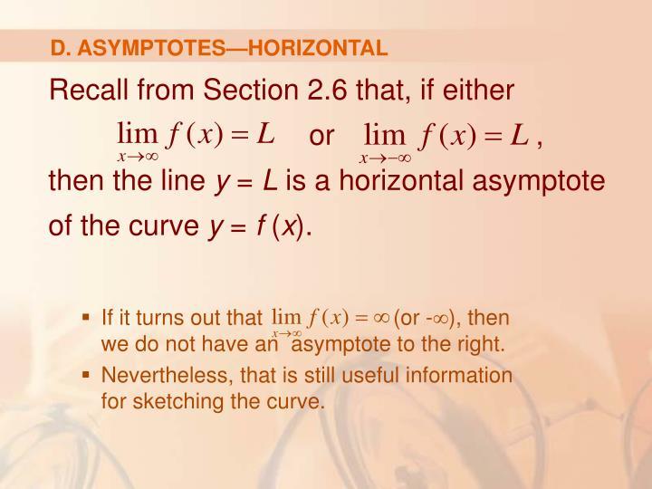 D. ASYMPTOTES—HORIZONTAL