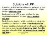 solutions of lpp1